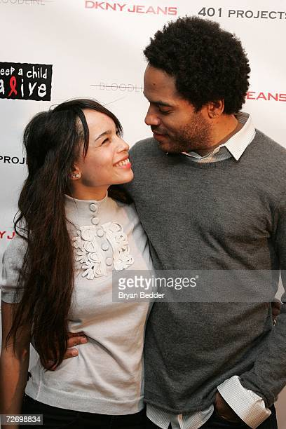 Musician Lenny Kravitz and his daughter Zoe Kravitz attend the 'Bloodline' Photo exibit at 401 Projects presented by DKNY Jeans on December 1 2006 in...