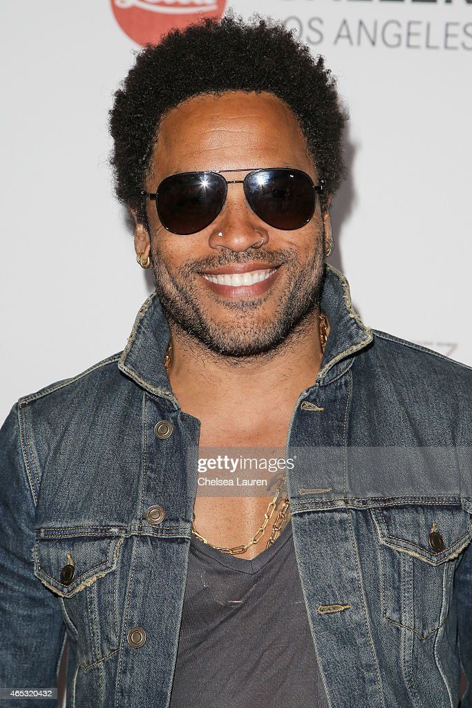 Musician <a gi-track='captionPersonalityLinkClicked' href=/galleries/search?phrase=Lenny+Kravitz&family=editorial&specificpeople=171613 ng-click='$event.stopPropagation()'>Lenny Kravitz</a> arrives at the worldwide launch of 'Flash by <a gi-track='captionPersonalityLinkClicked' href=/galleries/search?phrase=Lenny+Kravitz&family=editorial&specificpeople=171613 ng-click='$event.stopPropagation()'>Lenny Kravitz</a>' at Leica Gallery Los Angeles on March 5, 2015 in Los Angeles, California.
