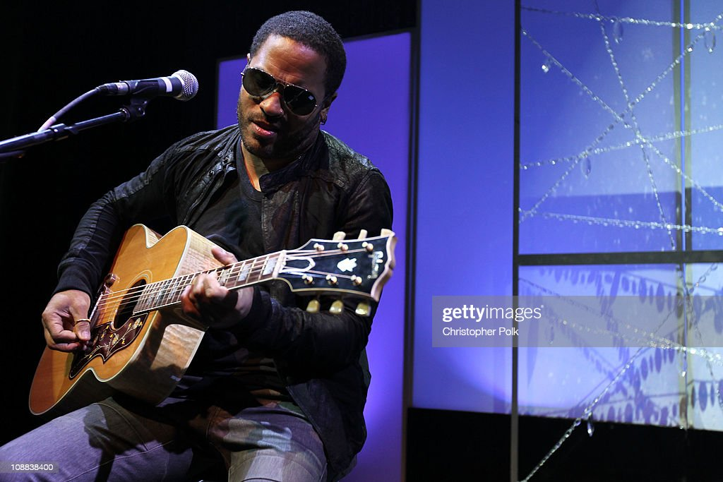 Musician Lenny Kravitz performs during the PepsiCo Super Bowl Weekend Kickoff Party featuring Lenny Kravitz and DJ Pauly D at Wyly Theater on February 4, 2011 in Dallas, Texas.