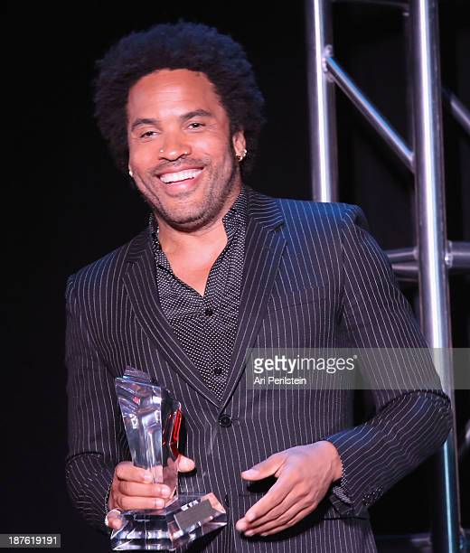 Musician Lenny Kravitz speaks onstage during the Hamilton and Los Angeles Confidential Magazine's announcement of the 7th Annual Hamilton Behind The...