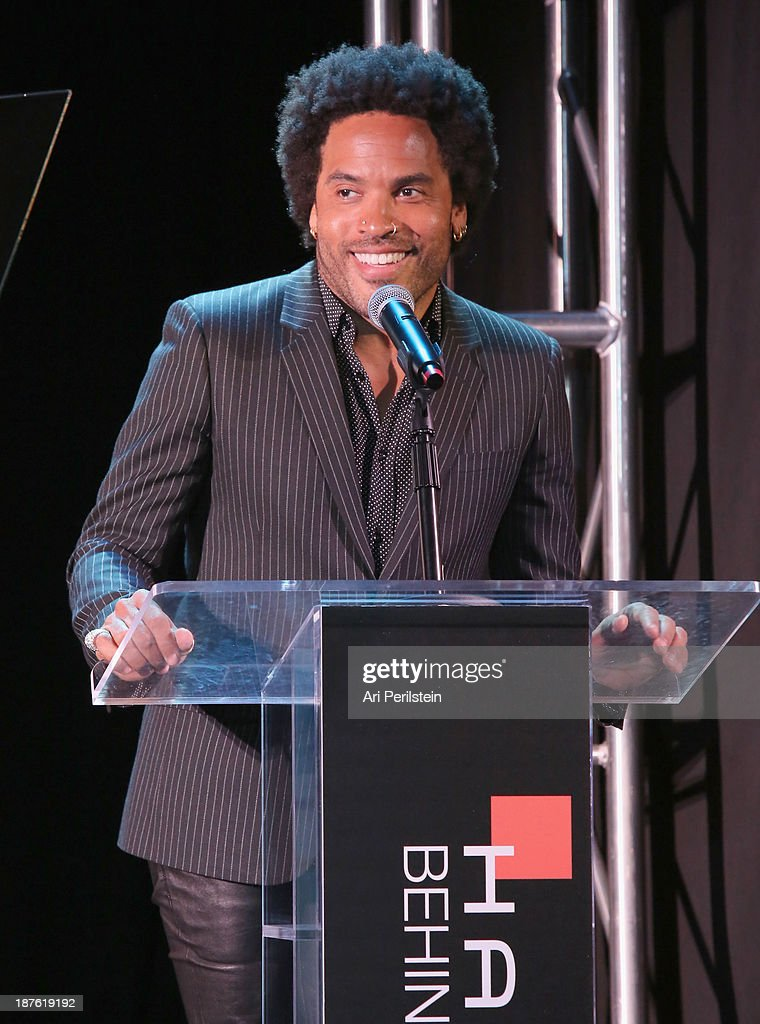 Musician <a gi-track='captionPersonalityLinkClicked' href=/galleries/search?phrase=Lenny+Kravitz&family=editorial&specificpeople=171613 ng-click='$event.stopPropagation()'>Lenny Kravitz</a> speaks onstage during the Hamilton and Los Angeles Confidential Magazine's announcement of the 7th Annual Hamilton Behind The Camera Awards at The Wilshire Ebell Theatre on November 10, 2013 in Los Angeles, California.