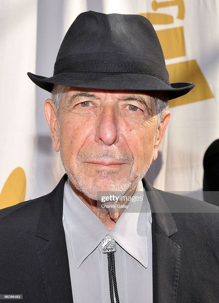Musician <a gi-track='captionPersonalityLinkClicked' href=/galleries/search?phrase=Leonard+Cohen&family=editorial&specificpeople=539168 ng-click='$event.stopPropagation()'>Leonard Cohen</a> arrives at the 52nd Annual GRAMMY Awards Special Merit Awards and Nominee Reception at The Wilshire Ebell Theatre on January 30, 2010 in Los Angeles, California.