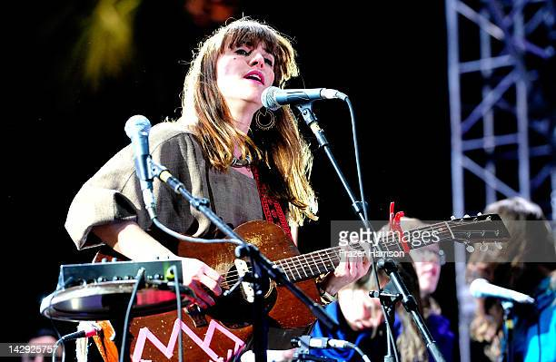Musician Leslie Feist of the band Feist performs during Day 2 of the 2012 Coachella Valley Music Arts Festival held at the Empire Polo Club on April...