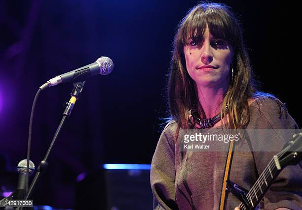 Musician Leslie Feist performs onstage during day 2 of the 2012 Coachella Valley Music Arts Festival at the Empire Polo Field on April 14 2012 in...