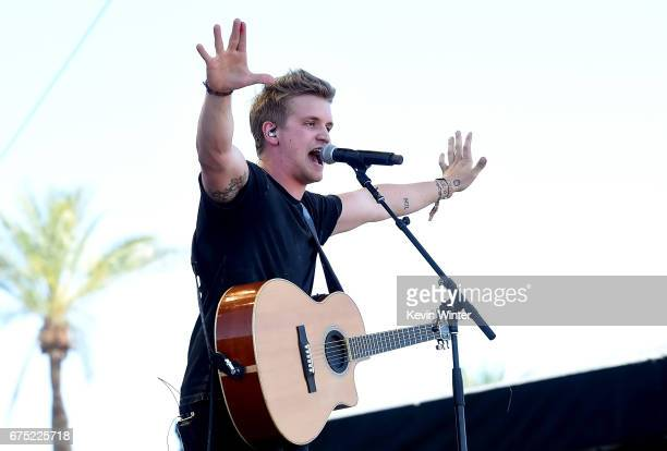 Musician Levi Hummon performs on the Toyota Mane Stage during day 3 of 2017 Stagecoach California's Country Music Festival at the Empire Polo Club on...