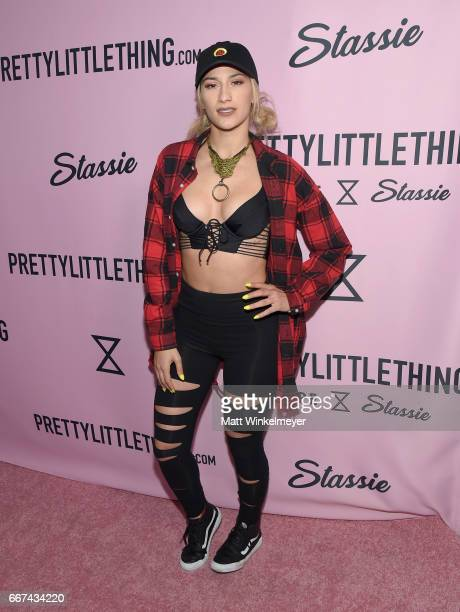Musician Lexy Panterra attends PrettyLittleThing Campaign Launch for PLT SHAPE with Brand Ambassador Anastasia Karanikolaou on April 11 2017 in Los...