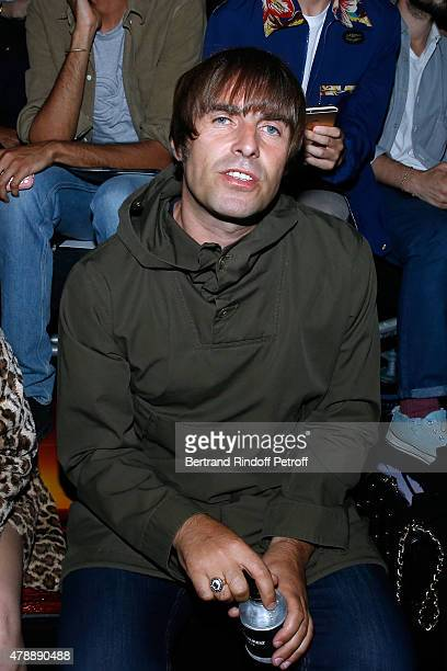 Musician Liam Gallagher attends the Saint Laurent Menswear Spring/Summer 2016 show as part of Paris Fashion Week on June 28 2015 in Paris France
