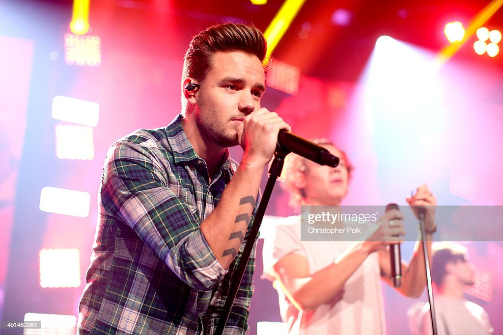Musician Liam Payne performs onstage at the 'One Direction iHeartRadio Album Release Party' hosted by Ryan Seacrest at the iHeartRadio Theater Los...