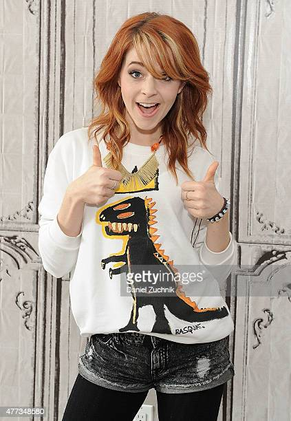 Musician Lindsey Stirling attends the AOL BUILD Speaker Series at AOL Studios In New York on June 16 2015 in New York City