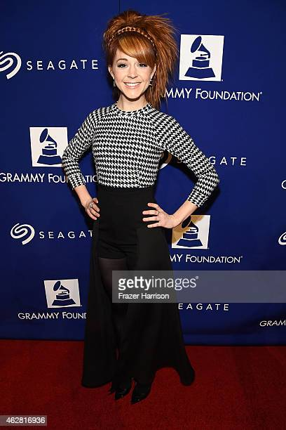 Musician Lindsey Stirling attends the GRAMMY Foundation's 17th annual Legacy Concert Lean On Me A Celebration of Music and Philanthropy at Wilshire...