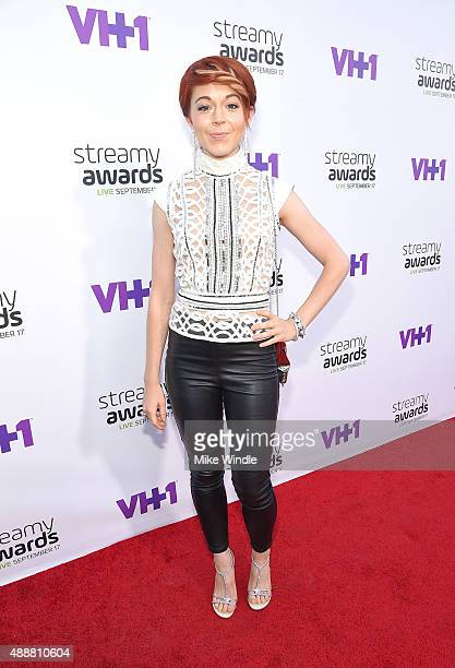 Musician Lindsey Stirling attends VH1's 5th Annual Streamy Awards at the Hollywood Palladium on Thursday September 17 2015 in Los Angeles California