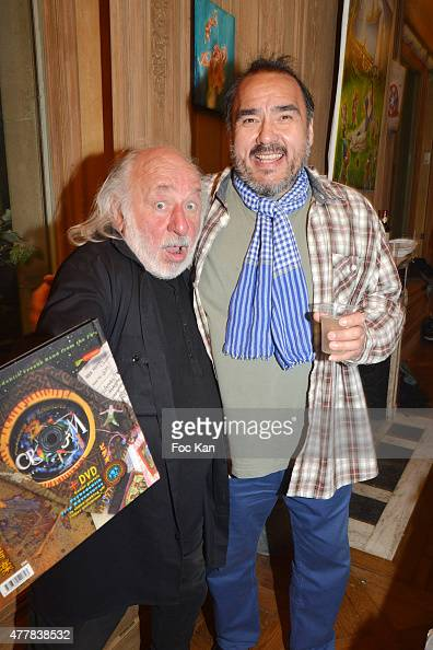 Musician Lionel Fox Magal from Crium Delirium band and comedian Jean Marc Truong attend the 'Ex Taz Citizen Cash' Tribute to Rave Parties organizer...