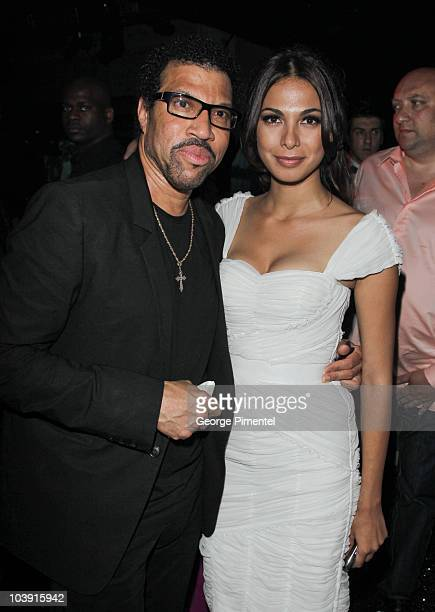 Musician Lionel Richie and Moran Atias attend the Artists for Peace and Justice Fundraiser at the VIP Room Palm Beach during the 63rd Annual...