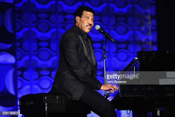 Musician Lionel Richie performs onstage during the Songwriters Hall Of Fame 47th Annual Induction And Awards at Marriott Marquis Hotel on June 9 2016...