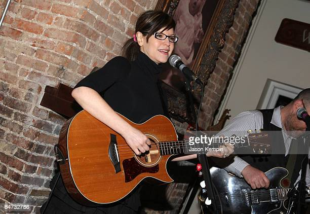 Musician Lisa Loeb attends the Kidscreen Summit cocktail reception at Little Airplane Productions on February 10 2009 in New York City
