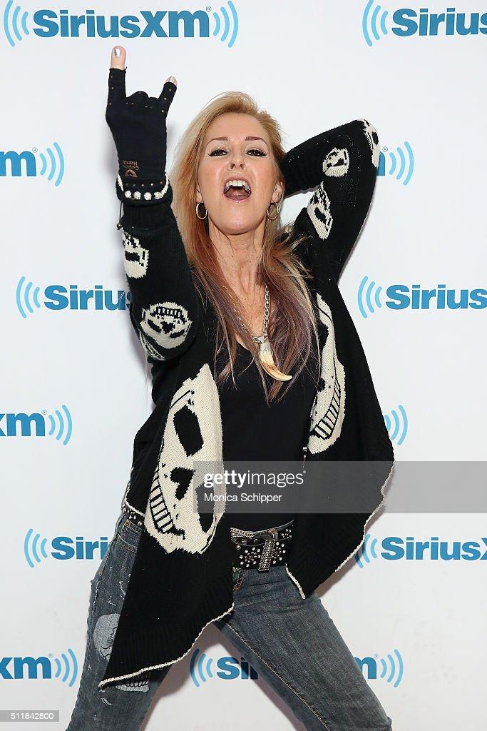 Musician Lita Ford visits SirusXM Studios on February 23, 2016 in New York City.