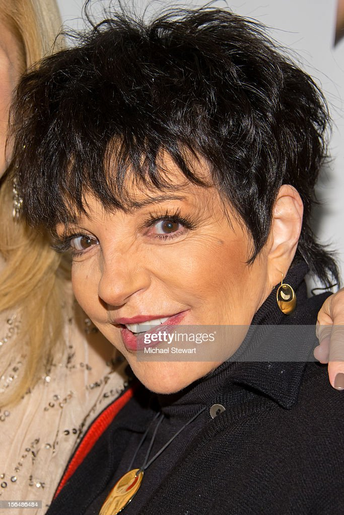 Musician <a gi-track='captionPersonalityLinkClicked' href=/galleries/search?phrase=Liza+Minnelli&family=editorial&specificpeople=121547 ng-click='$event.stopPropagation()'>Liza Minnelli</a> attends the 'Scandalous' Broadway Opening Night' at Neil Simon Theatre on November 15, 2012 in New York City.