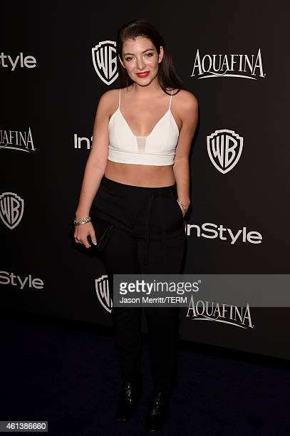 Musician Lorde attends the 2015 InStyle And Warner Bros 72nd Annual Golden Globe Awards PostParty at The Beverly Hilton Hotel on January 11 2015 in...