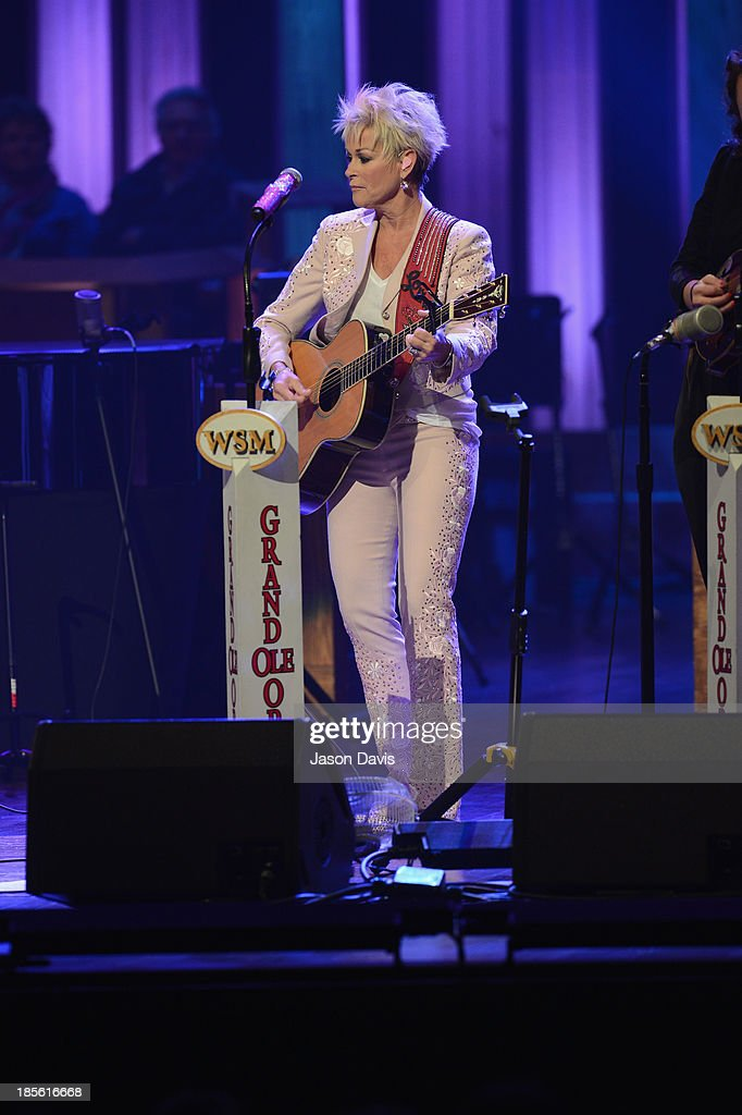 Musician Lorrie Morgan performs during the 5th annual Opry Goes Pink show at The Grand Ole Opry on October 22, 2013 in Nashville, Tennessee.