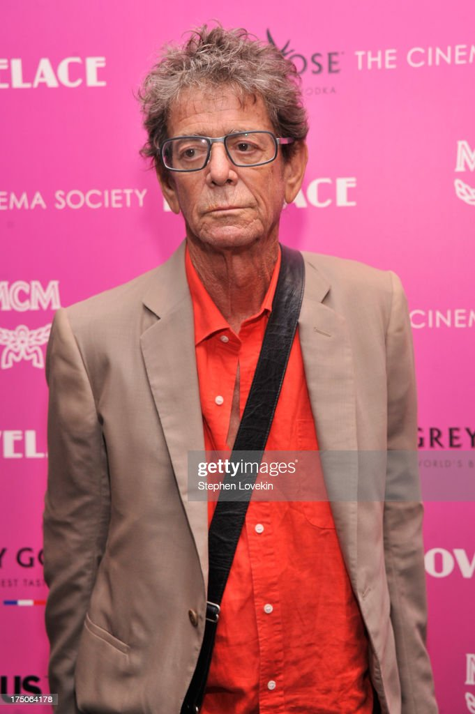 Musician <a gi-track='captionPersonalityLinkClicked' href=/galleries/search?phrase=Lou+Reed&family=editorial&specificpeople=206117 ng-click='$event.stopPropagation()'>Lou Reed</a> attends The Cinema Society and MCM with Grey Goose screening of Radius TWC's 'Lovelace' at MoMA on July 30, 2013 in New York City.