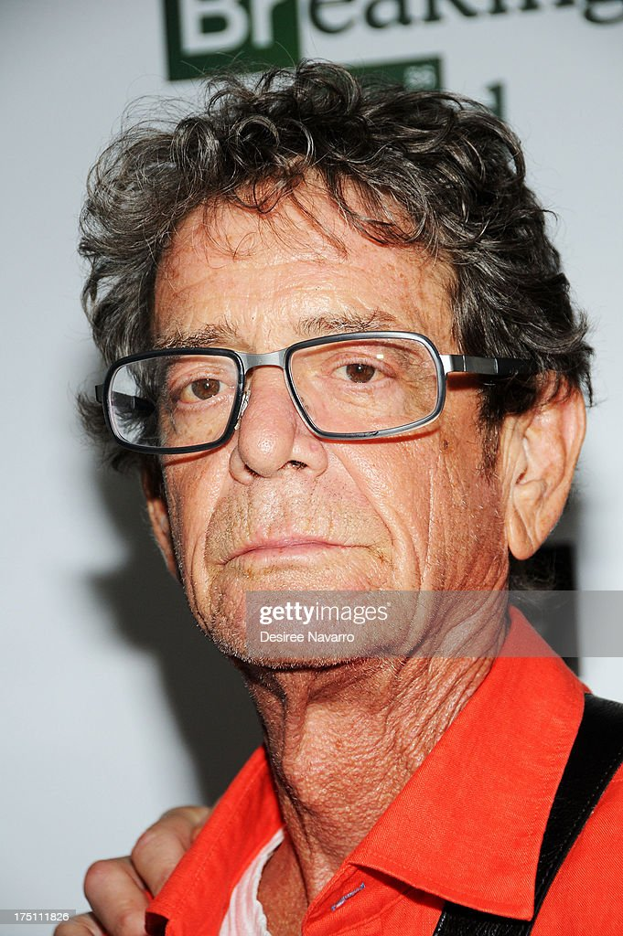 Musician <a gi-track='captionPersonalityLinkClicked' href=/galleries/search?phrase=Lou+Reed&family=editorial&specificpeople=206117 ng-click='$event.stopPropagation()'>Lou Reed</a> attends The Film Society Of Lincoln Center And AMC Celebration Of 'Breaking Bad' Final Episodes at The Film Society of Lincoln Center, Walter Reade Theatre on July 31, 2013 in New York City.
