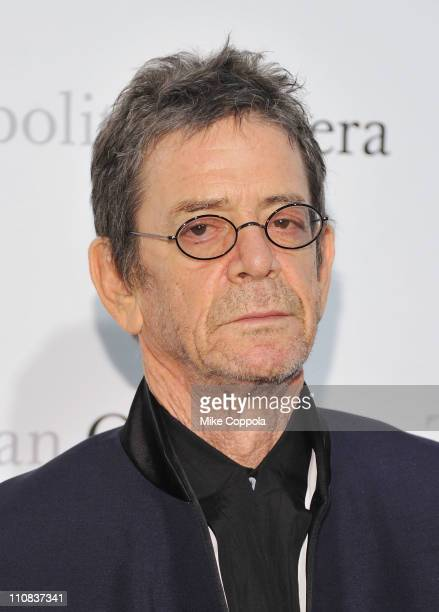 Musician Lou Reed attends the Metropolitan Opera's gala premiere of Rossini's 'Le Comte Ory' at The Metropolitan Opera House on March 24 2011 in New...