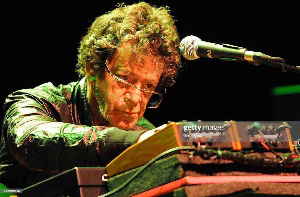 Musician Lou Reed performs music inspired by his seminal 1975 experimental album 'Metal Machine Music' with the Metal Machine Trio, as part of the Ether festival at the Royal Festival Hall on April 19, 2010 in London, England.