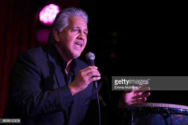 Musician Louie Cruz Beltran performs onstage at 'Pat Harris' California Democratic US Senate Run 2018 kick off' at Catalina Jazz Club Bar Grill on...