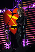Musician Lucinda Williams performs at the 2010 MusiCares Person Of The Year Tribute To Neil Young at the Los Angeles Convention Center on January 29...