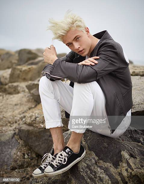 Musician Lucky Blue Smith is photographed for Trendi Magazine on May 30 2015 in El Segundo California