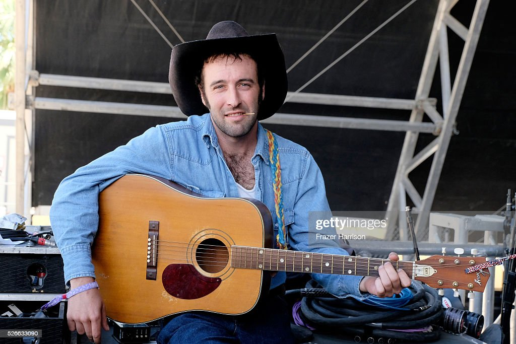 Musician Luke Bell poses backstage during 2016 Stagecoach California's Country Music Festival at Empire Polo Club on April 30, 2016 in Indio, California.