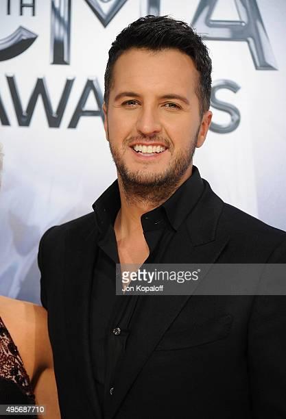Musician Luke Bryan attends the 49th annual CMA Awards at the Bridgestone Arena on November 4 2015 in Nashville Tennessee