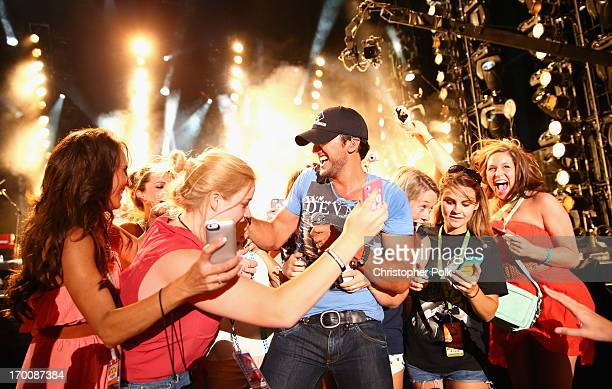 Musician Luke Bryan performs during the 2013 CMA Music Festival on June 6 2013 in Nashville Tennessee