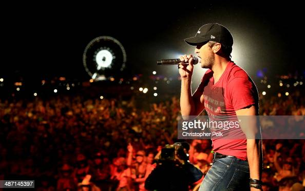 Musician Luke Bryan performs onstage during day 3 of 2014 Stagecoach California's Country Music Festival at the Empire Polo Club on April 27 2014 in...