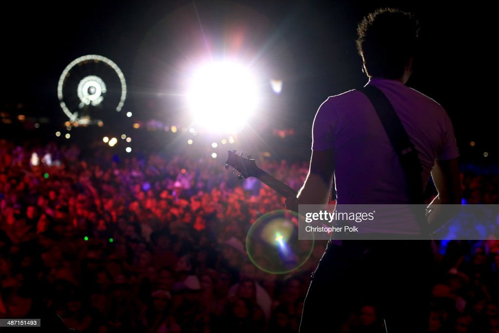 Musician Luke Bryan performs onstage during day 3 of 2014 Stagecoach: California's Country Music Festival at the Empire Polo Club on April 27, 2014 in Indio, California.