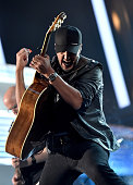 Musician Luke Bryan rehearses onstage during the 51st Academy of Country Music Awards at MGM Grand Garden Arena on April 1 2016 in Las Vegas Nevada