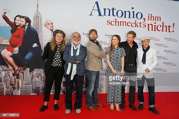 Musician Luke Friend Alessandro Bressanello Christian Ulmen Mina Tander director Sven Unterwald and Peter Nottmeier attend the premiere of the film...