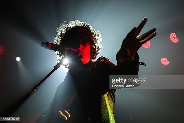 Musician Luke Pritchard of The Kooks performs at The Roxy Theatre on August 8 2014 in West Hollywood California