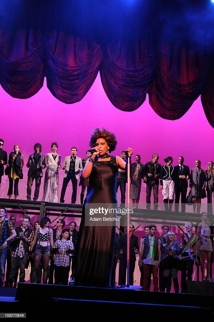 Musician Macy Gray performs at the Macy's Passport Presents Glamorama Dress Rehersal at the Orpheum Theater in Minneapolis Minnesota on August 6 2010