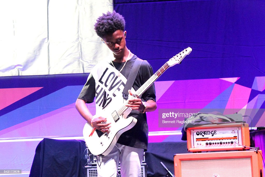 Musician <a gi-track='captionPersonalityLinkClicked' href=/galleries/search?phrase=Malcolm+Brickhouse&family=editorial&specificpeople=12727389 ng-click='$event.stopPropagation()'>Malcolm Brickhouse</a> of Unlocking the Truth performs on the BETX stage during the 2016 BET Experience on June 26, 2016 in Los Angeles, California.