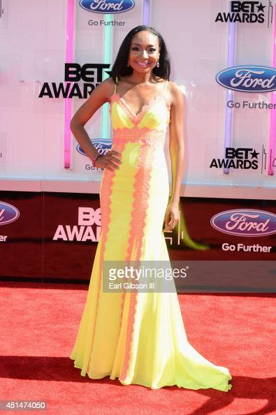 Musician Malina Moye attends the BET AWARDS '14 at Nokia Theatre LA LIVE on June 29 2014 in Los Angeles California