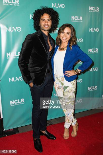 Musician Manwell Reyes and comedienne Anjelah Johnson arrive at the National Council of La Raza exclusive night of comedy at the Los Angeles...