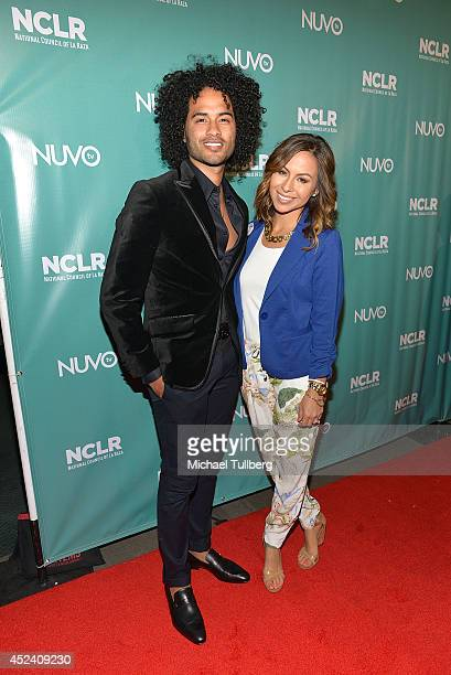 Musician Manwell Reyes and comedienne Anjelah Johnson attend the National Council of La Raza's Exclusive Night Of Comedy event at Los Angeles...