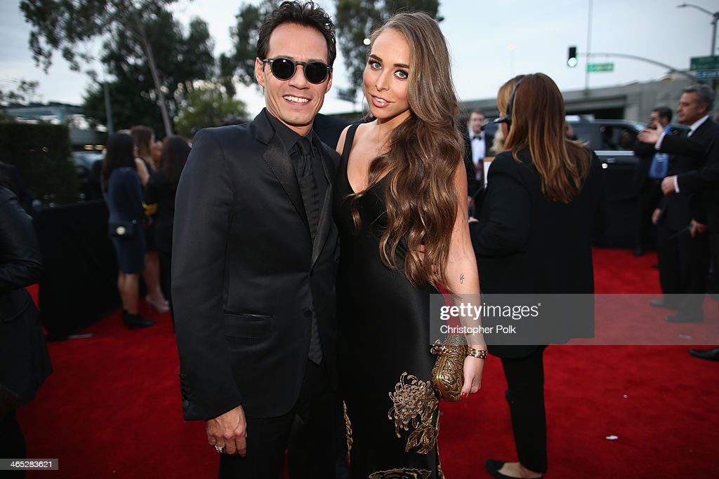 Musician Marc Anthony and TV personality Chloe Green attend the 56th GRAMMY Awards at Staples Center on January 26, 2014 in Los Angeles, California.
