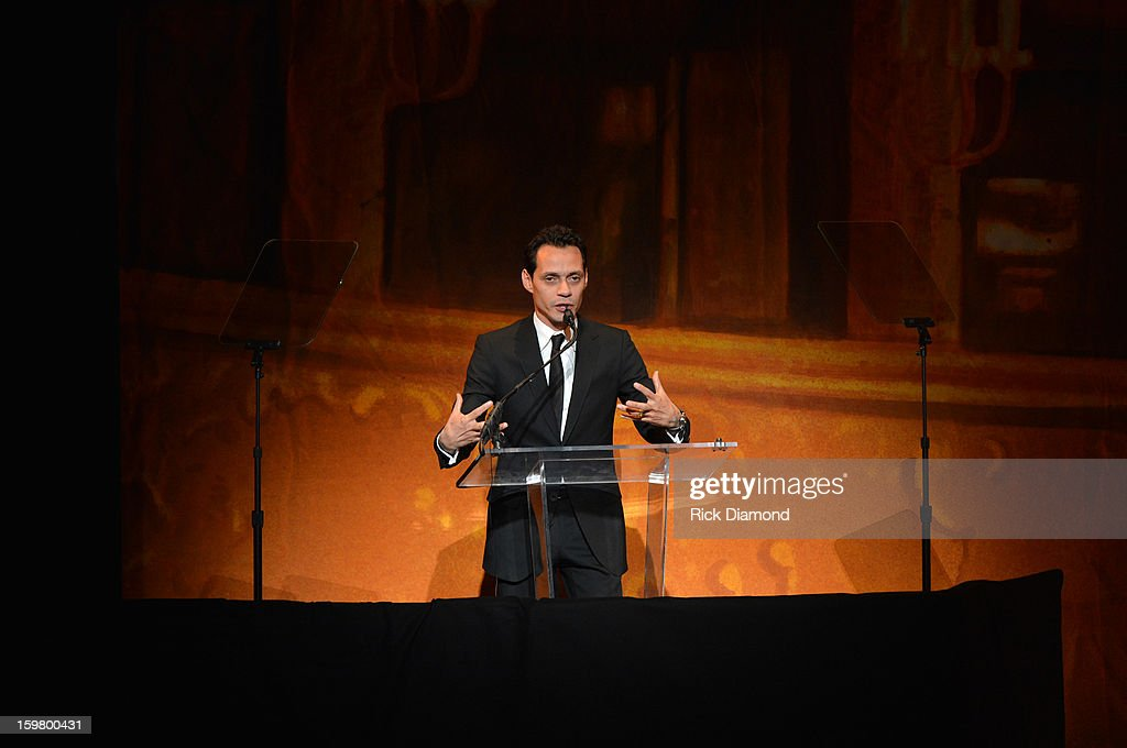 Musician Marc Anthony speaks at Latino Inaugural 2013: In Performance at Kennedy Center at The Kennedy Center on January 20, 2013 in Washington, DC.
