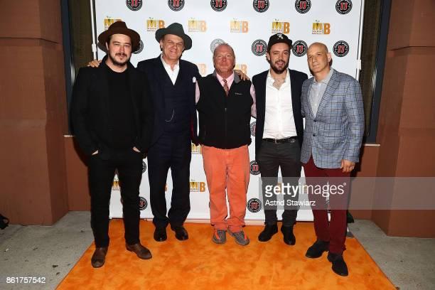 Musician Marcus Mumford actor John C Reilly chef Mario Batali musician Ben Lovett and chef Marc Vetri attend 6th Annual Mario Batali Foundation...