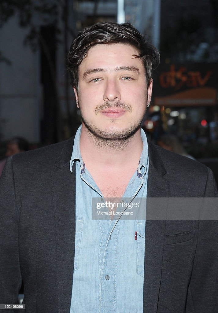 Musician Marcus Oliver Johnston Mumford attends the 'If There Is I Haven't Found It' Broadway opening night at Laura Pels Theatre on September 20, 2012 in New York City.