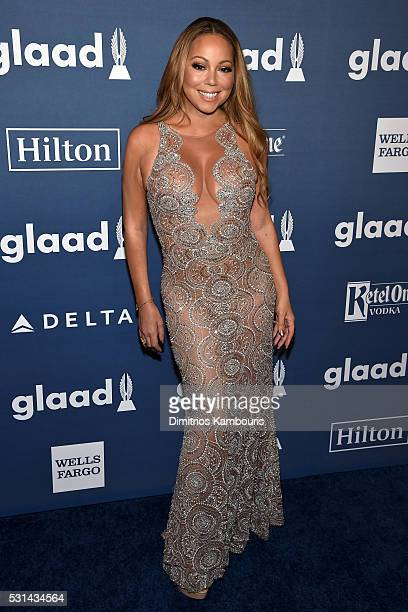 Musician Mariah Carey attends the 27th Annual GLAAD Media Awards in New York on May 14 2016 in New York City
