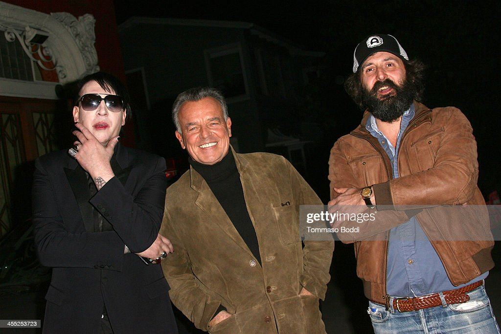 Musician <a gi-track='captionPersonalityLinkClicked' href=/galleries/search?phrase=Marilyn+Manson&family=editorial&specificpeople=208980 ng-click='$event.stopPropagation()'>Marilyn Manson</a>, actor <a gi-track='captionPersonalityLinkClicked' href=/galleries/search?phrase=Ray+Wise&family=editorial&specificpeople=540309 ng-click='$event.stopPropagation()'>Ray Wise</a> and director Quentin Dupieux attend the GenArt Screening Series presents 'Wrong Cops' held at the Vista Theatre on December 11, 2013 in Los Angeles, California.