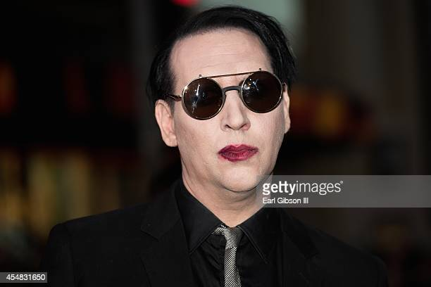 Musician Marilyn Manson attends FX's 'Son Of Anarchy' Premiere at TCL Chinese Theatre on September 6 2014 in Hollywood California